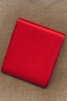 Silkebånd rød 72 mm. x 3 meter