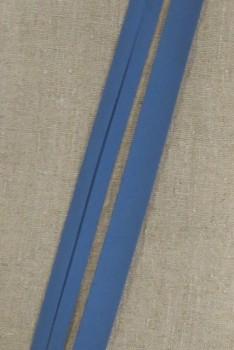 Bomulds-skråbånd i denim-blå