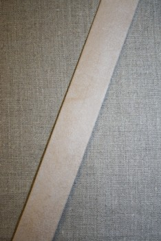 Skråbånd imiteret ruskind, off-white/sand