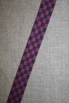 Skråbånd mål-flags-tern, sort/cerisse