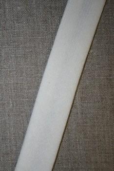 Skråbånd i uld, off-white