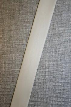 Skråbånd imiteret blød læder, off-white