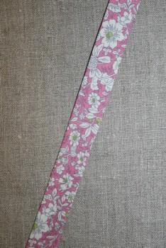 Skråbånd m/blomster, rosa