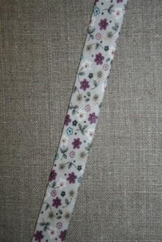 Rest Skråbånd med blomster lysegrå lyng- 75 cm.
