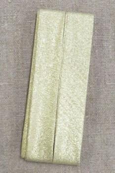 Skråbånd lame i guld, 20 mm. x 3½ meter. - Prym