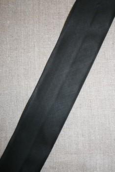 Bred bomulds-skråbånd 60 mm. sort
