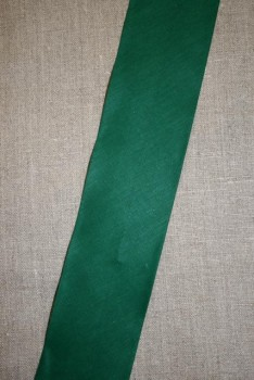 Bred bomulds-skråbånd 60 mm. grøn