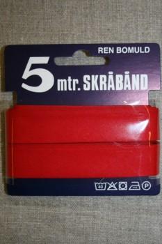 5 meter bomulds-skråbånd, rød