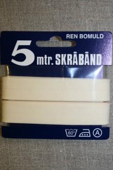 5 meter bomulds-skråbånd, off-white