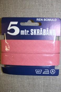 5 meter bomulds-skråbånd, lys gl.rosa