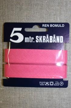 5 meter bomulds-skråbånd, lys pink