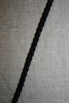 Snoet silke-snor, 6 mm. sort