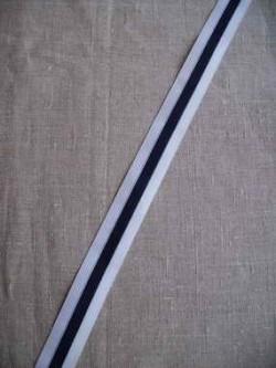 Sportsbånd hvid og mørkeblå