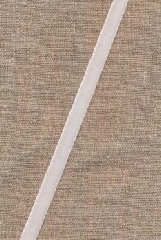 Velourbånd hvid 9 mm.