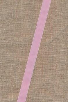 Velourbånd 16 mm. lyserød