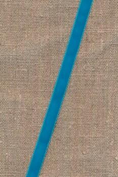 Velourbånd 9 mm. i turkis
