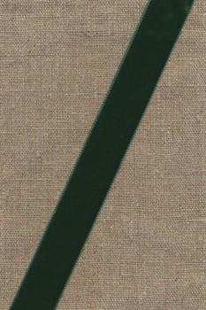 Velourbånd flaskegrøn 22 mm.
