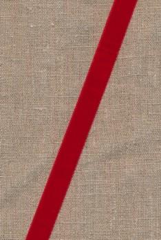 Velourbånd rød 16 mm.