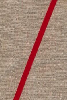 Velourbånd rød 9 mm.
