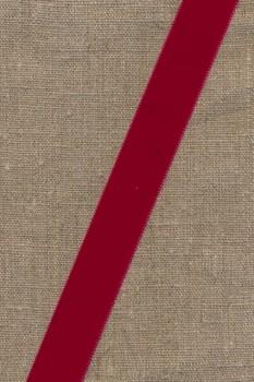 Velourbånd mørk rød 22 mm.