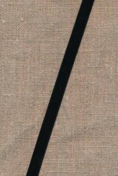 Velourbånd 9 mm. i sort