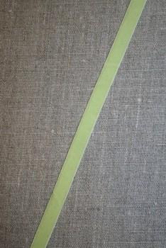 Velourbånd m/stræk, lys lime