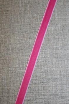 Velourbånd rosa/pink 9 mm.