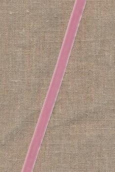 Velourbånd lys rosa 9 mm.