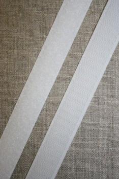 20 mm. velcro hvid