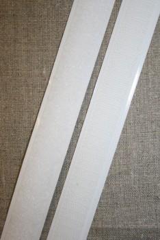 20 mm. velcro med lim- selvklæbende, hvid