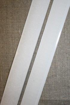 Rest 20 mm. velcro med lim - selvklæbende, hvid loop 33 cm.