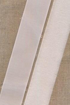 Rest 50 mm velcro hvid med lim - selvklæbende, 40 cm. loop