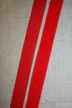 Rest 25 mm. velcro rød 50 cm. hook+loop