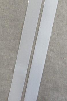 30 mm. velcro med lim- selvklæbende, hvid