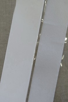 100 mm. velcro hvid med lim - selvklæbende