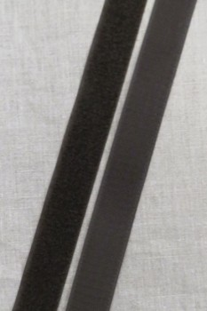 Rest 25 mm. velcro mørkebrun hook+loop 50 cm.