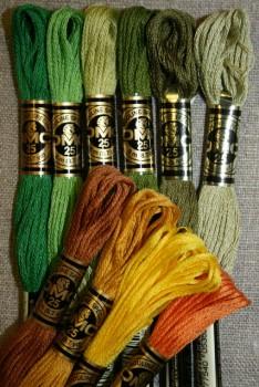 Broderigarn DMC Mouliné grøn/gul