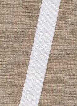 Pose m/2 meter 25 mm. hvid elastik