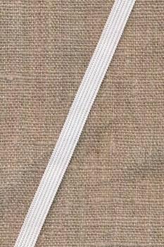 Pose med 4 meter 7 mm. hvid elastik