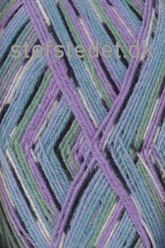 Aloe strømpegarn print lyselilla/blå/lysegrøn