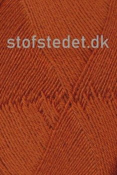 Aloe strømpegarn i lys rust fv.5640