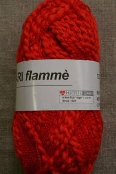 Bomuldsgarn Bari Flammé, koral-rød