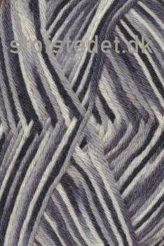Basic uld/polyamid flerfarvet i grå, sort og hvid