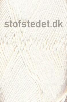 Blend Bamboo-/bomuldsgarn i Off-white | Hjertegarn