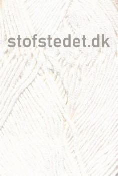 Blend Bamboo-/bomuldsgarn i Hvid | Hjertegarn