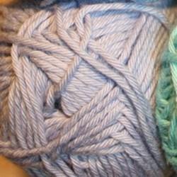 Bommix Bomuld/acryl garn i Baby lyseblå