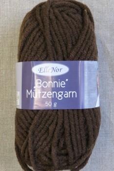 Bonnie Mützengarn uld/akryl i chokoladebrun P.6