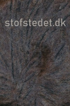 Børstet uld fra Hjertegarn i mørk grå-brun