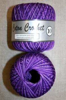 Nr. 10 hækle- strikkegarn meleret mørkelilla/lilla