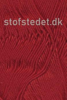 Cotton 8 Hjertegarn i varm rød